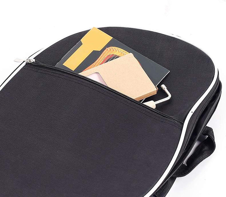Hellery Waterproof Padded Lyre Harp Storage Carry Bag Handbags with Shoulder Strap for 10-19 String Lyre Harps