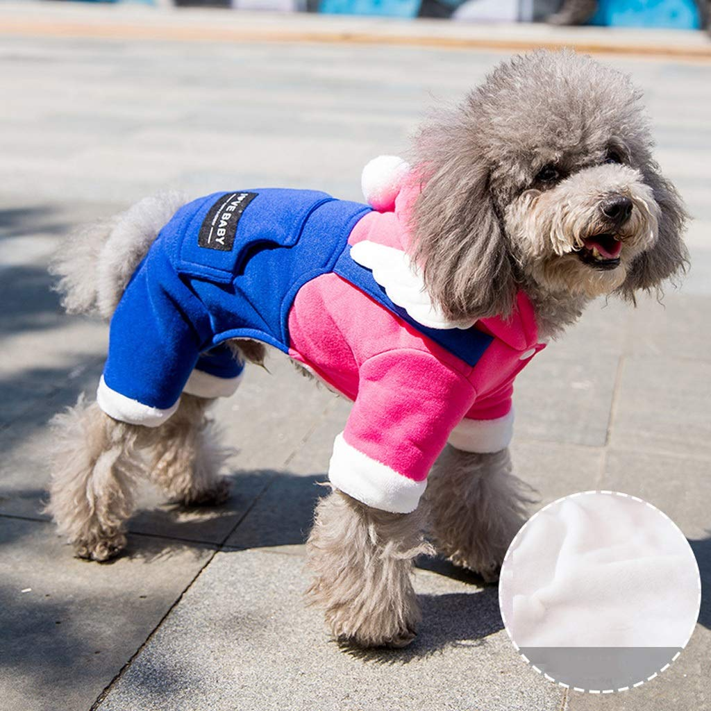 Medium CXQ Pet Small Dog Winter and Autumn Warm Hat Four Feet Thick Pink Clothes (Size   M)