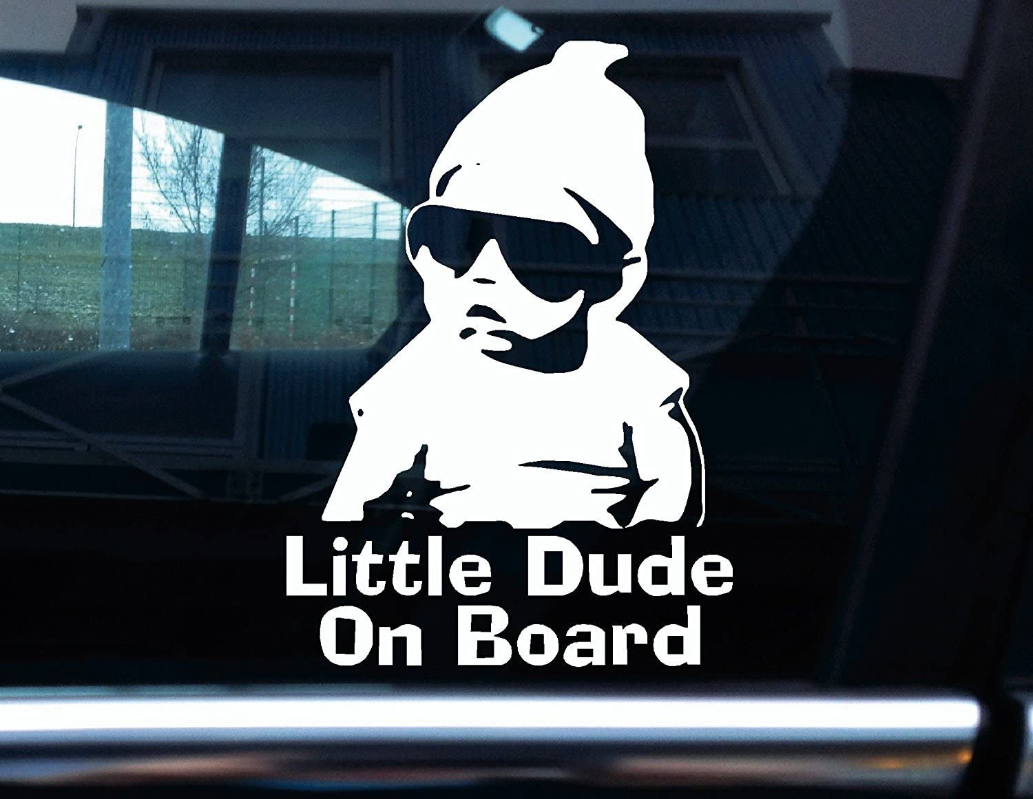 Turnerco Vinyle Stickers pour Inscription Little Dude on Board