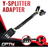 OPT7 Weatherproof 4-Pin Tow Y Splitter Connector Adapter for Truck Tailgate - Perfect for Trailers, Accessory Lighting…