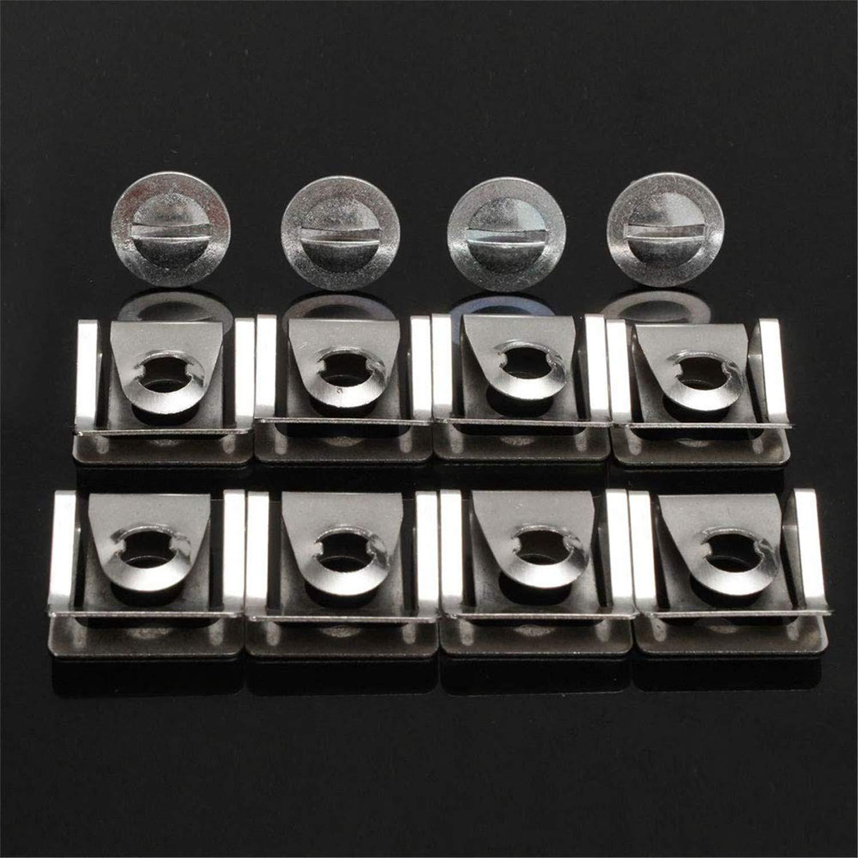 60 piezas de accesorios para autom/óviles Hebilla con kit de surtido de alicates aptos para Volkswagen Audi Protector de motor Soporte de u/ñas de aluminio sujetadores de parachoques