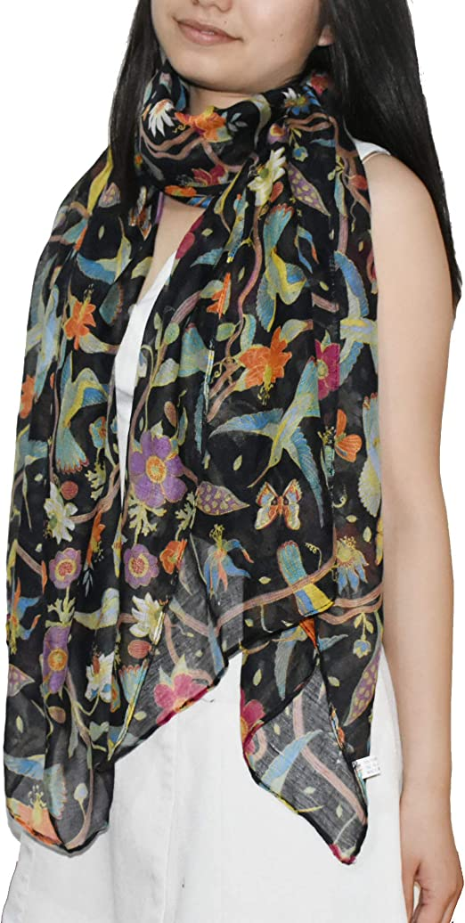 Women Boho Scarves Animal Printed Long Neck Head Scarf Wrap Shawl Casual Holiday