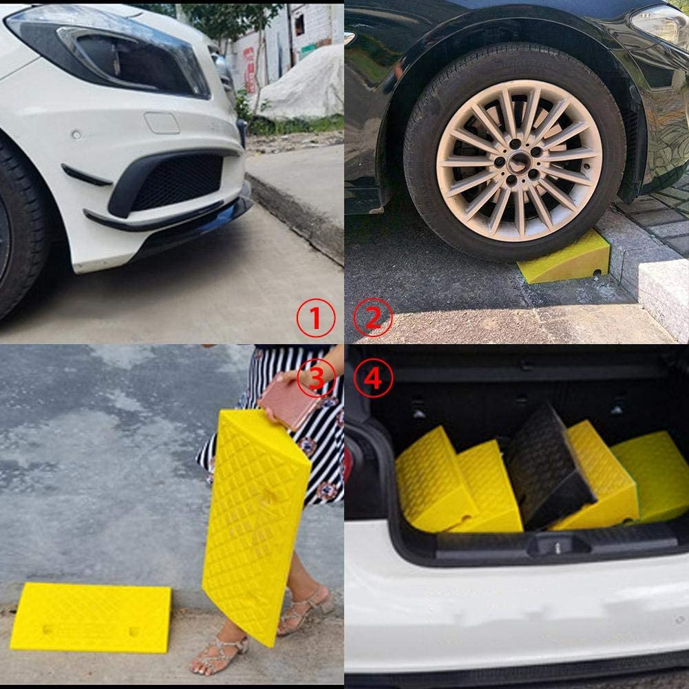 Rampas de Goma de Servicio Pesado para Acceso para discapacitados en Silla de Ruedas con Remolque de Caravana de Coche 50 27 13 cm