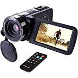 "Camcorder,Hausbell 302S Remote Control Camcorder, FHD Infrared Night Vision 1080p 24 MP Digital Camcorder Video Camera with 3.0"" LCD, Touch Screen and HDMI Output"