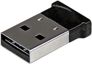 StarTech.com Bluetooth Adapter - Mini Bluetooth 4.0 USB Adapter - 50m/165ft Wireless Bluetooth Dongle - Smart Ready LE+EDR (USBBT1EDR4),Black