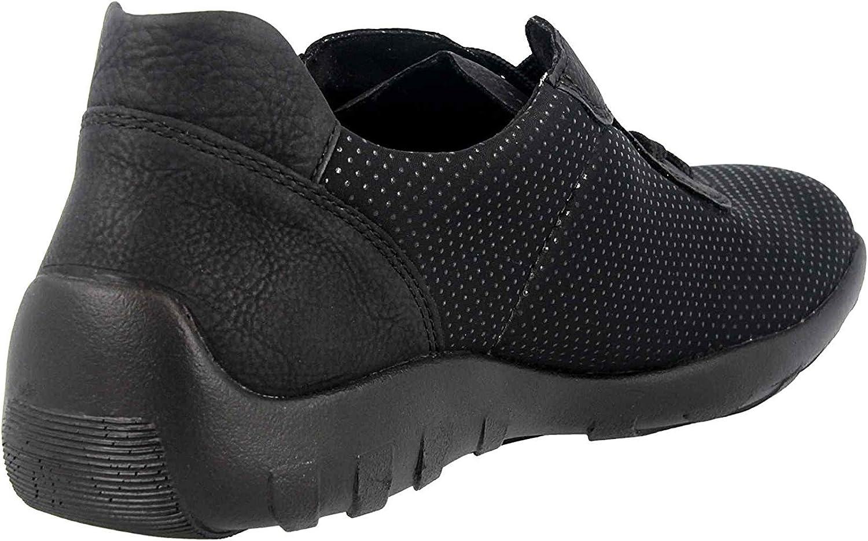 Remonte halfhoge schoenen in grote maten zwart R3512-02 grote damesschoenen Schwarz/Schwarz/Schwarz / 02