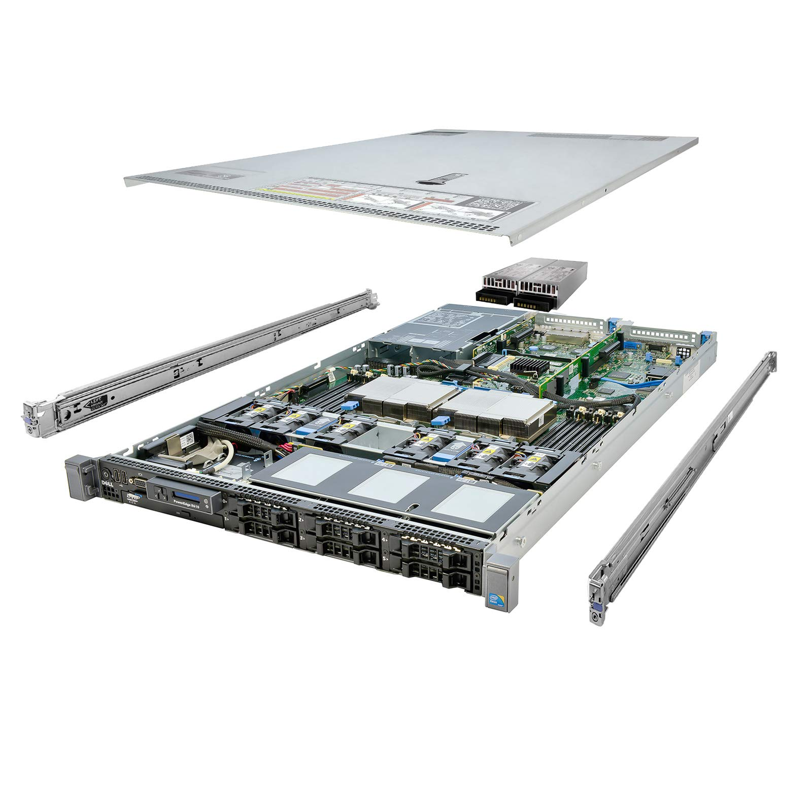 Energy-Efficient Dell PowerEdge R610 Server 12-Core 32GB 2x 146GB 2x 300GB (Renewed) by Dell