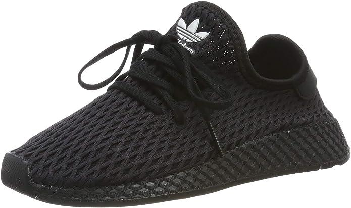 adidas Deerupt Runner Sneakers Fitnessschuhe Kinder Unisex Schwarz Größe 28 bis 33