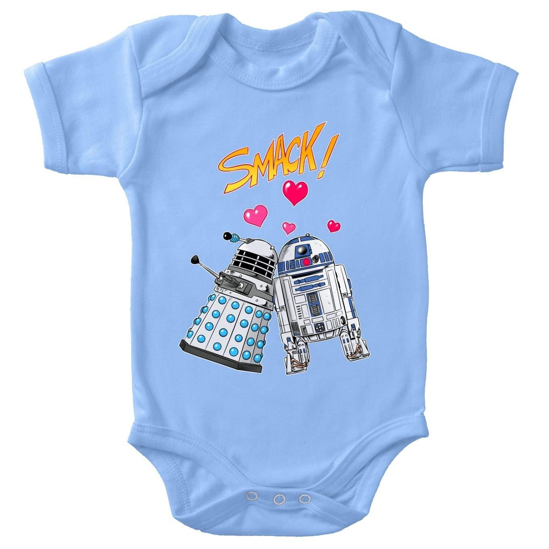 Star Wars parodique R2-D2 in Love dun Dalek de Doctor Who R2-Devil Love Connexion Body b/éb/é Bleu Doctor Who Parodie Doctor Who - Star Wars