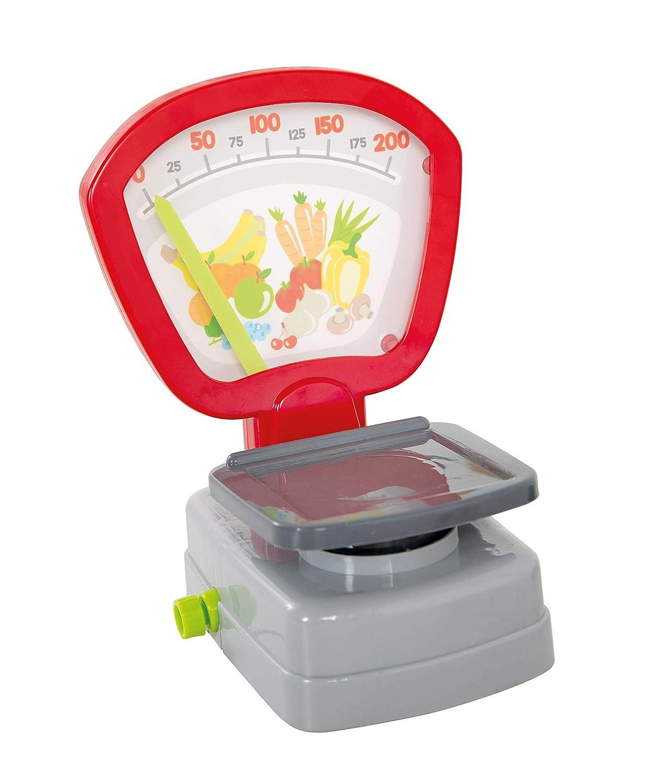 Einkaufskorb roba 9715 Kaufladenzubeh/ör Spielgeld mehrfarbig Kasse Lebensmittel Set /& Angebotsschilder