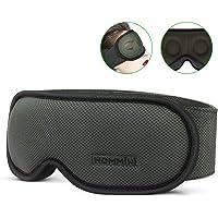 HOMMINI 3D Schlafmaske Damen und Herren, Premium Schlafbrille Nachtmaske,100% Lichtschutz, super weich und bequem, Augenmaske für Reisen, Schichtarbeit und Nickerchen, Inklusive Ohrstöpseln