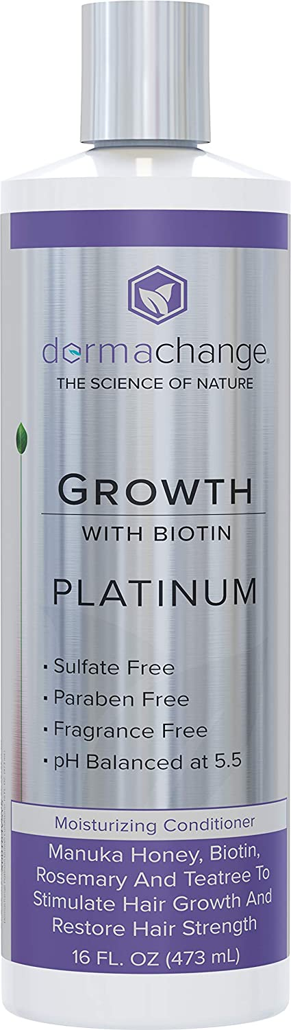 Platinum Hair Growth Moisturizing Conditioner - With Argan Oil, Biotin & Tea Tree Extract - Supports Hair Regrowth - Hair Loss Treatments (16 oz) - Made in USA: Beauty