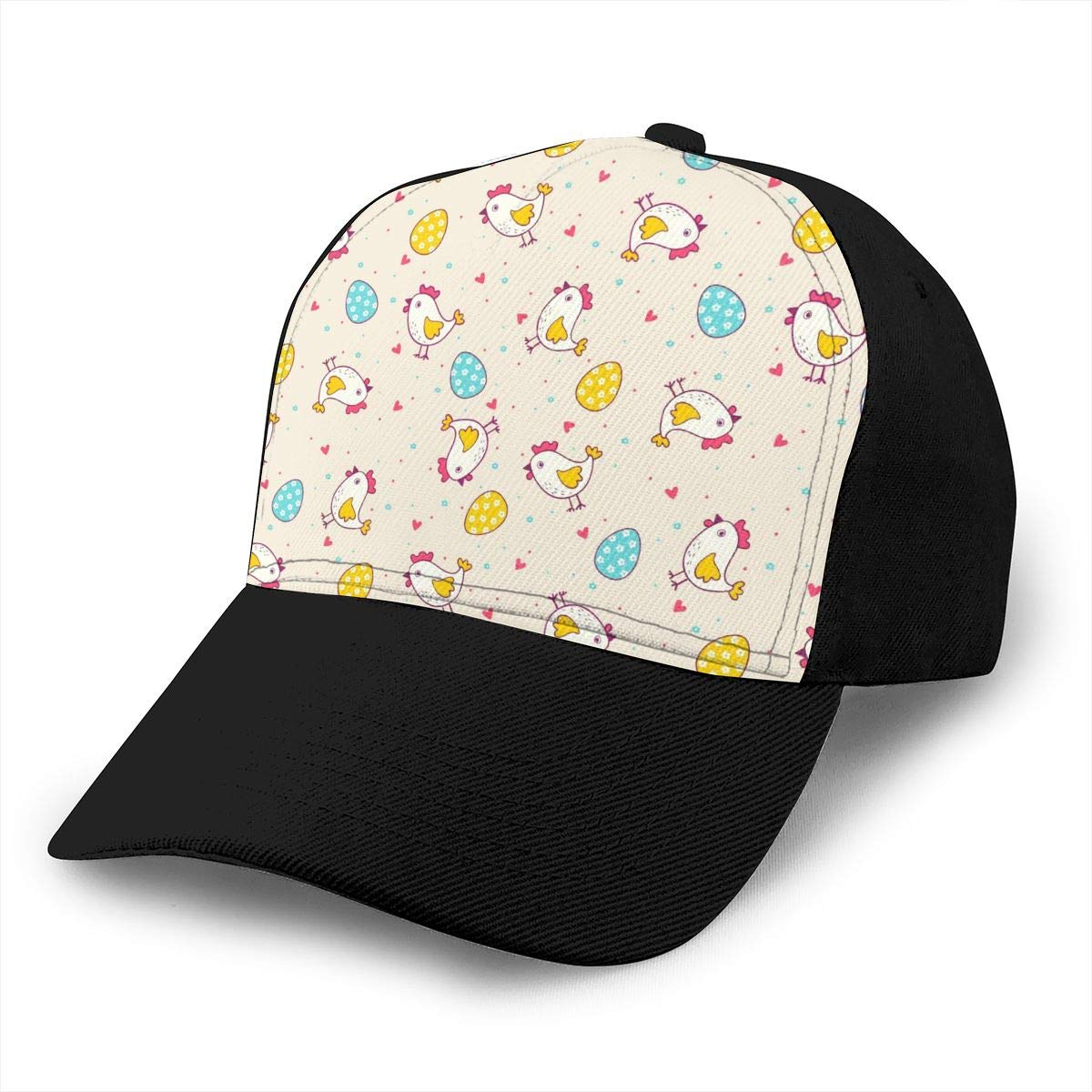 Classic Comfortable Chicken and Eggs Adjustable Baseball Cap