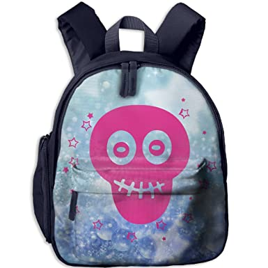 Amazon.com   Girl Skull Bow Heart Toddler Kids Backpack Preschool Backpack  Navy Mini Backpack   Kids  Backpacks bb545b8ae6