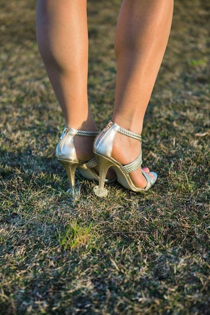 HIGH HEEL PROTECTORS for Shoes on Grass (15 Pair Value Multi-Pack) - Stops Your Heels Sinking - Crystal Clear by Starlettos (Image #3)