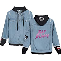 YUANOU Chaqueta de Mezclilla Bad Bunny Cool Mujeres Hombres Primavera Otoño