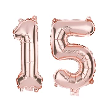 Amazon Ella Celebration 15 Number Balloons For 15th Birthday