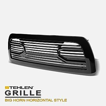 Stehlen 642167821830 Big Horn Horizontal Front Hood Bumper Grille 4500//5500 Black For 2010-2018 Dodge Ram 2500//3500