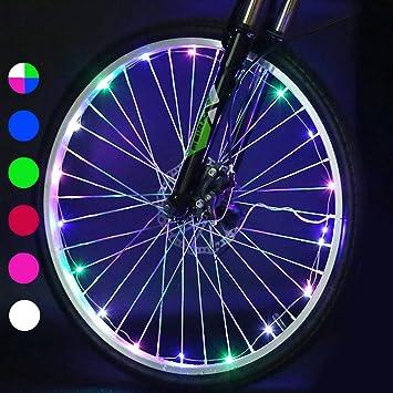 Luces para Rueda de Bicicletas, Caiyuangg 20LEDs Rueda Luces del Rayo Habló Luze para Bicicleta con 2 Modelos (Colorful): Amazon.es: Deportes y aire libre