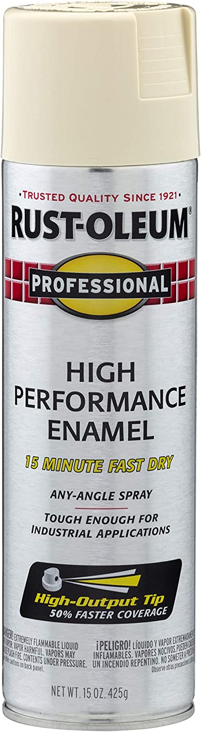 Rust-Oleum 7570838 Professional High Performance Enamel Spray Paint, 15 oz, Almond