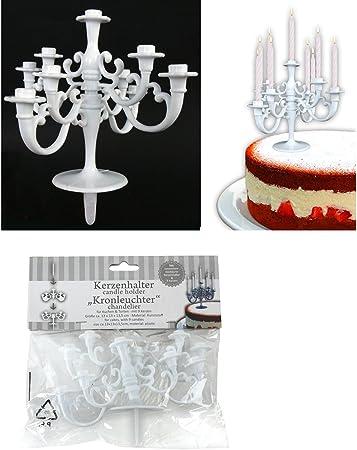 Terrific Cake Design Chandelier White With Candle Holder Amazon Co Uk Personalised Birthday Cards Arneslily Jamesorg