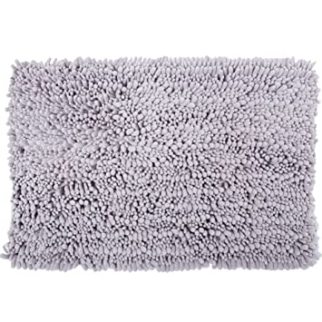 Chenille Microfiber Bath Rugs For Bathroom Rosoz Non Slip Plush Shaggy Bath  Floor Mat Amazon Com Chenille Microfiber Bath Rugs For Bathroom Rosoz Non