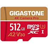 Gigastone 512GB Micro SD Card, A2 V30 Run App for Smartphone, Gopro, Action Cam, Sports Cam, Nintendo Switch Compatible UHD 4