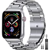 EPULY Compatible with Apple Watch Band 42mm 44mm 38mm 40mm ,Business Stainless Steel Metal Wristband for iWatch SE…