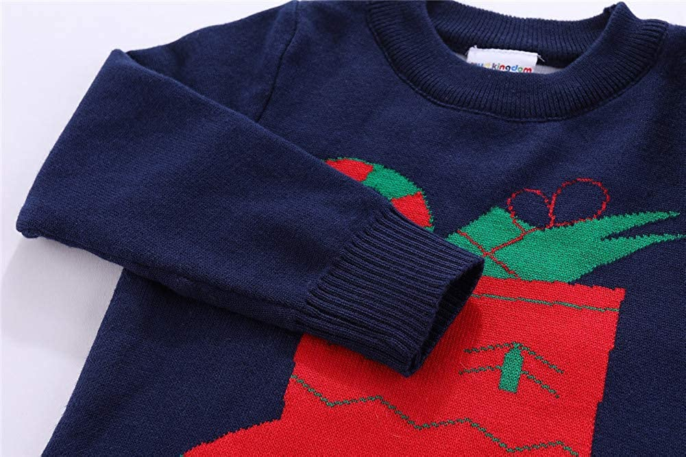 Mud Kingdom Cute Little Boys Sweater Christmas Sock Pullover
