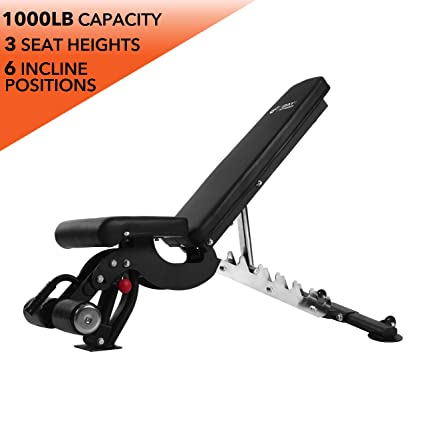 Adjustable Weight Bench, 1000 lb by D1F for Strength Training - Incline,  Decline, Flat Workout Benches for Lifting, Flies, Chest Press, Dips -  Utility
