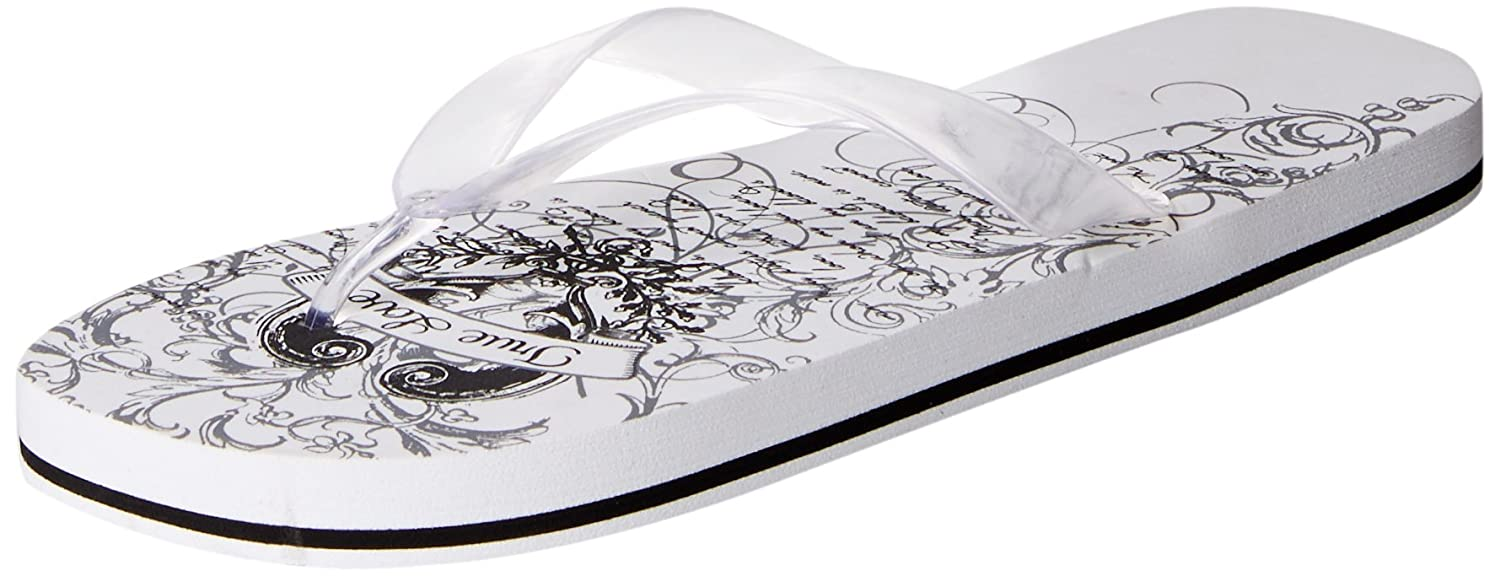 d783b32fde21 Amazon.com  Lillian Rose Women s Black and White Flip Flops Large Size  9-10  Home   Kitchen