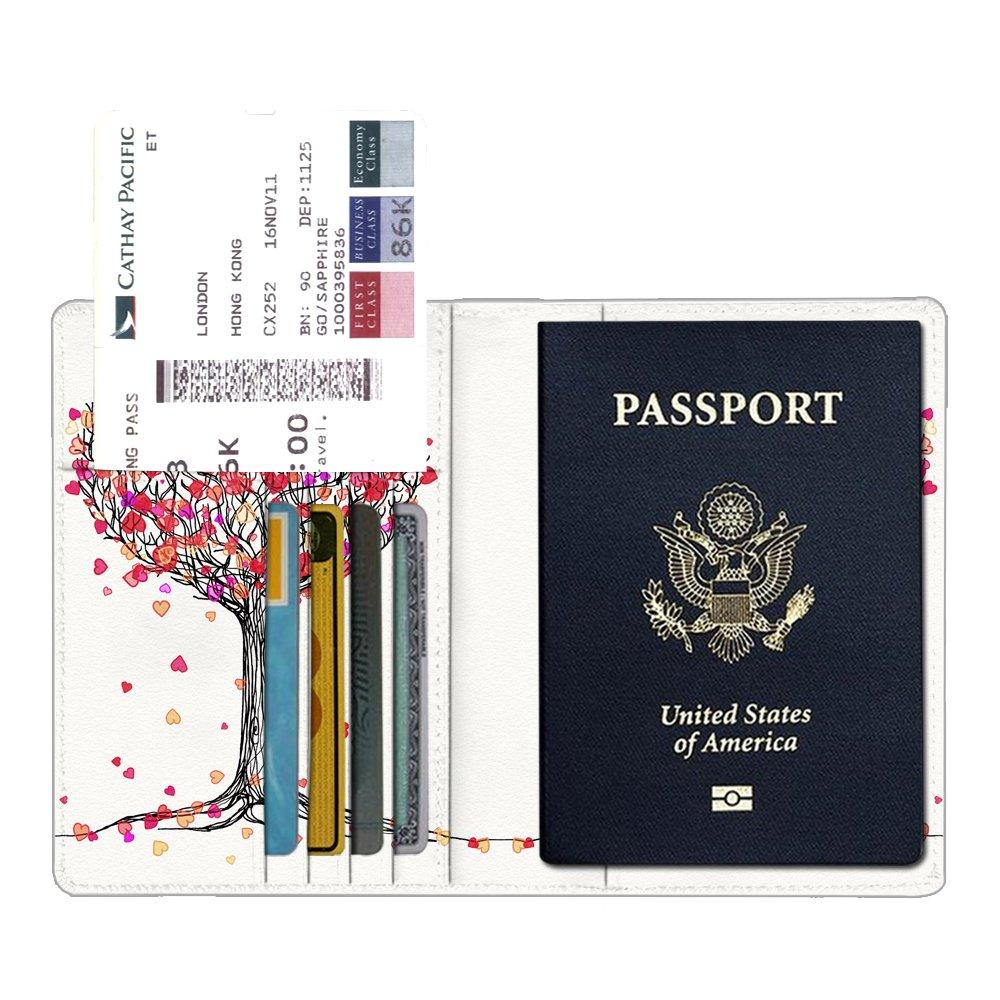 carte dembarquement Voyage Protecteur Portefeuille Pochette /étui de protection pour passeport carte didentit Pourpre Fintie Porte-passeport Housse