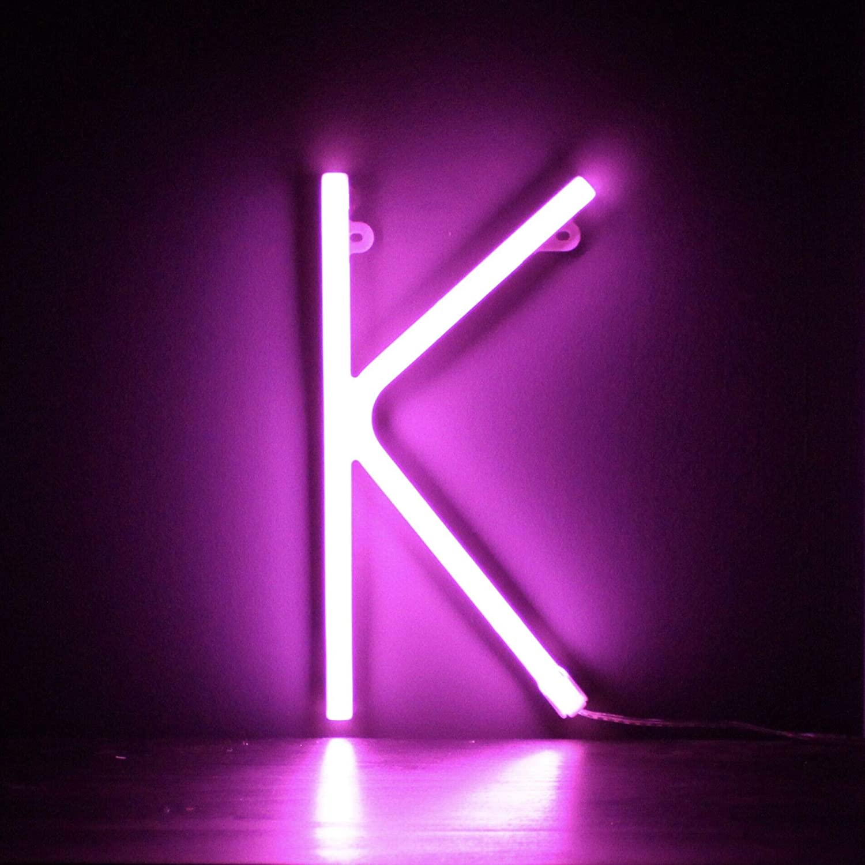 Parete Appeso Con Batteria Smiling Faces Lettera Luce Rosa LED Neon Lettera Y