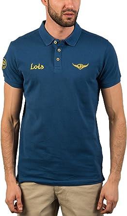 LOIS First Life - Polo para hombre, talla XXL, color Azul: Amazon ...
