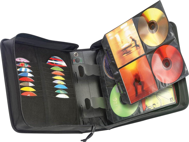 208 Discos, Negro, Nylon, 120 mm, 992 g Case Logic CDW-208 208 Discos Negro Fundas para Discos /ópticos