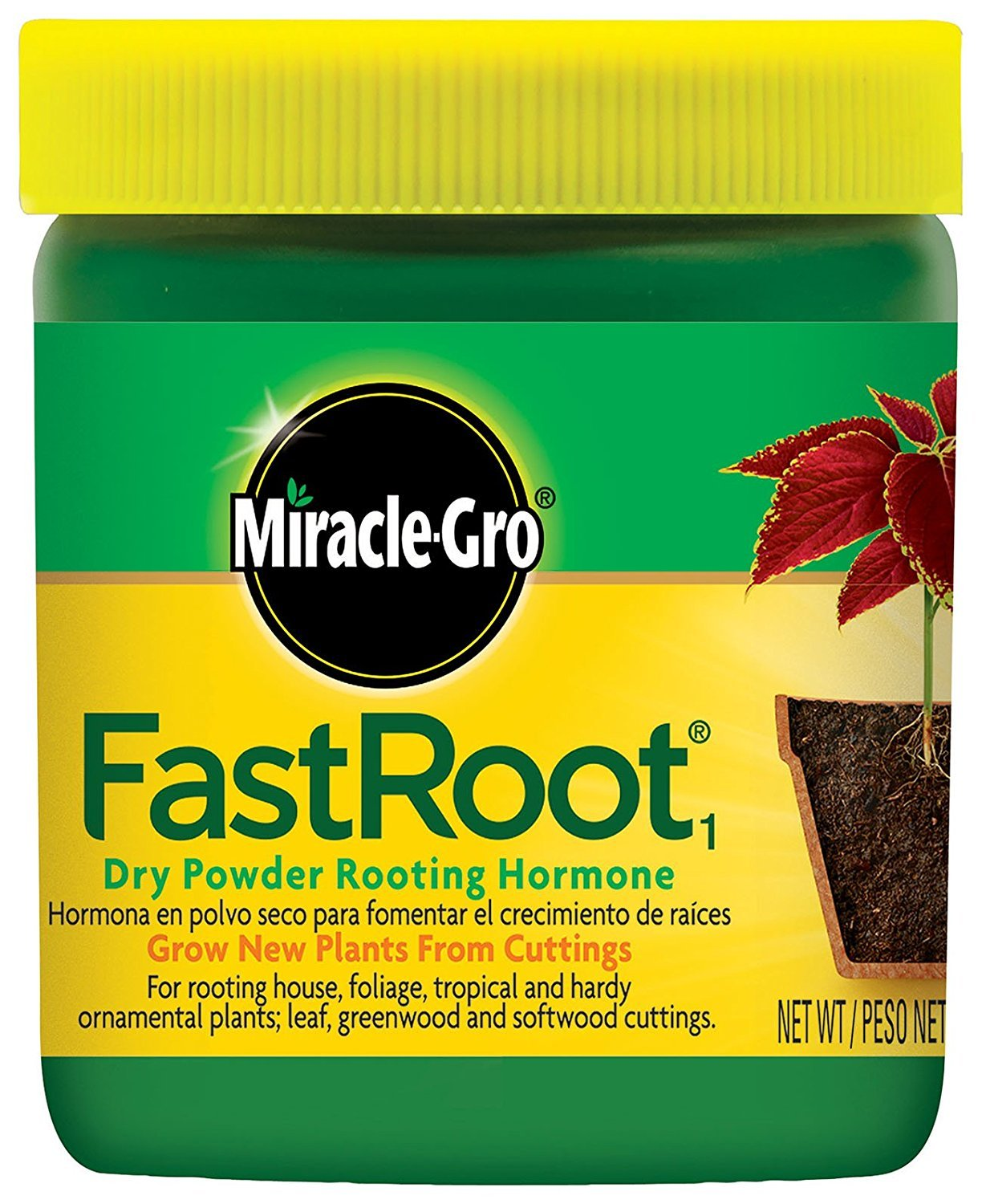 Miracle-Gro FastRoot Dry Powder Rooting Hormone Jar, 1-1/4-Ounce (2 Pack)