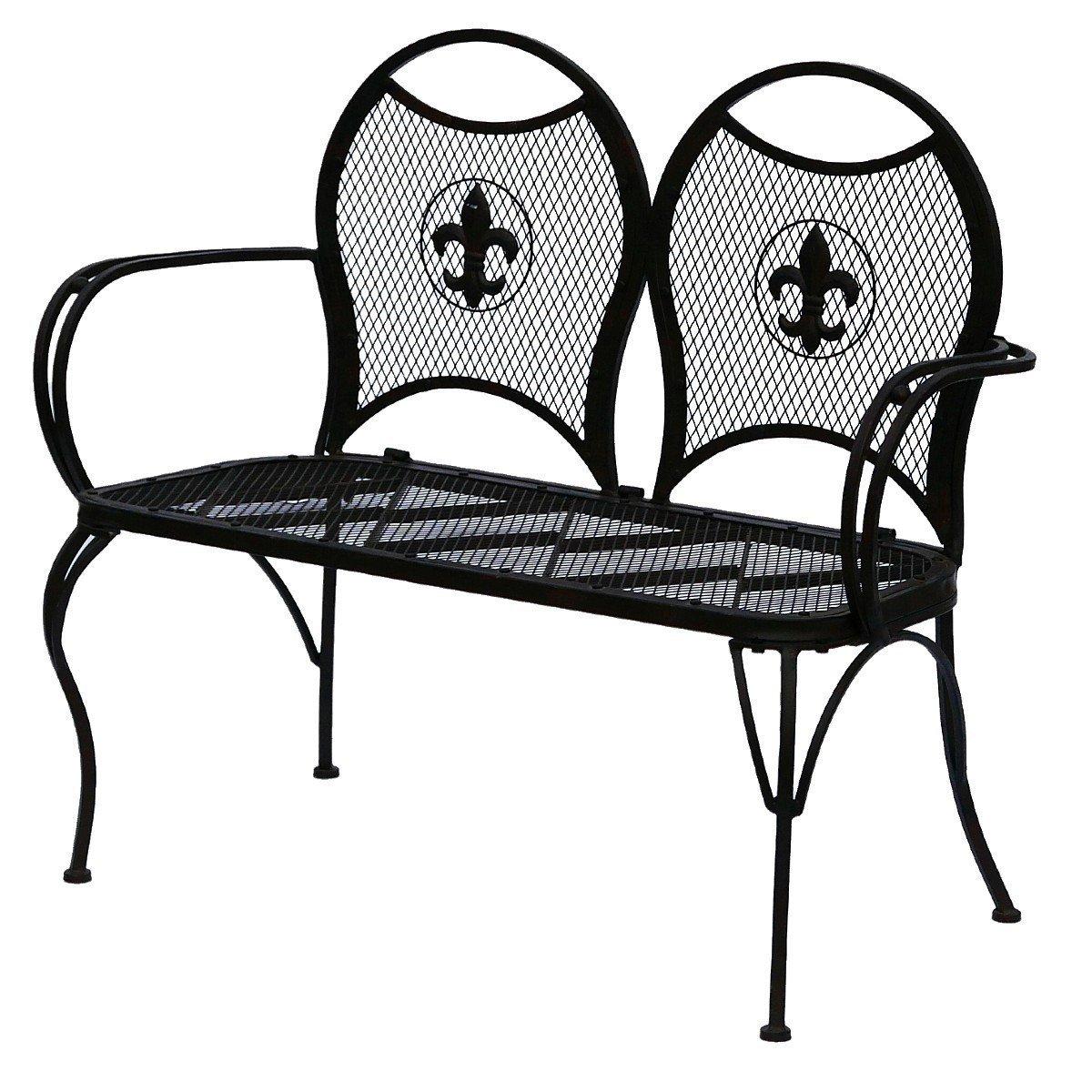braune gartenbank zweierbank sitzbank f r terasse garten sitzm glichkeit kaufen. Black Bedroom Furniture Sets. Home Design Ideas