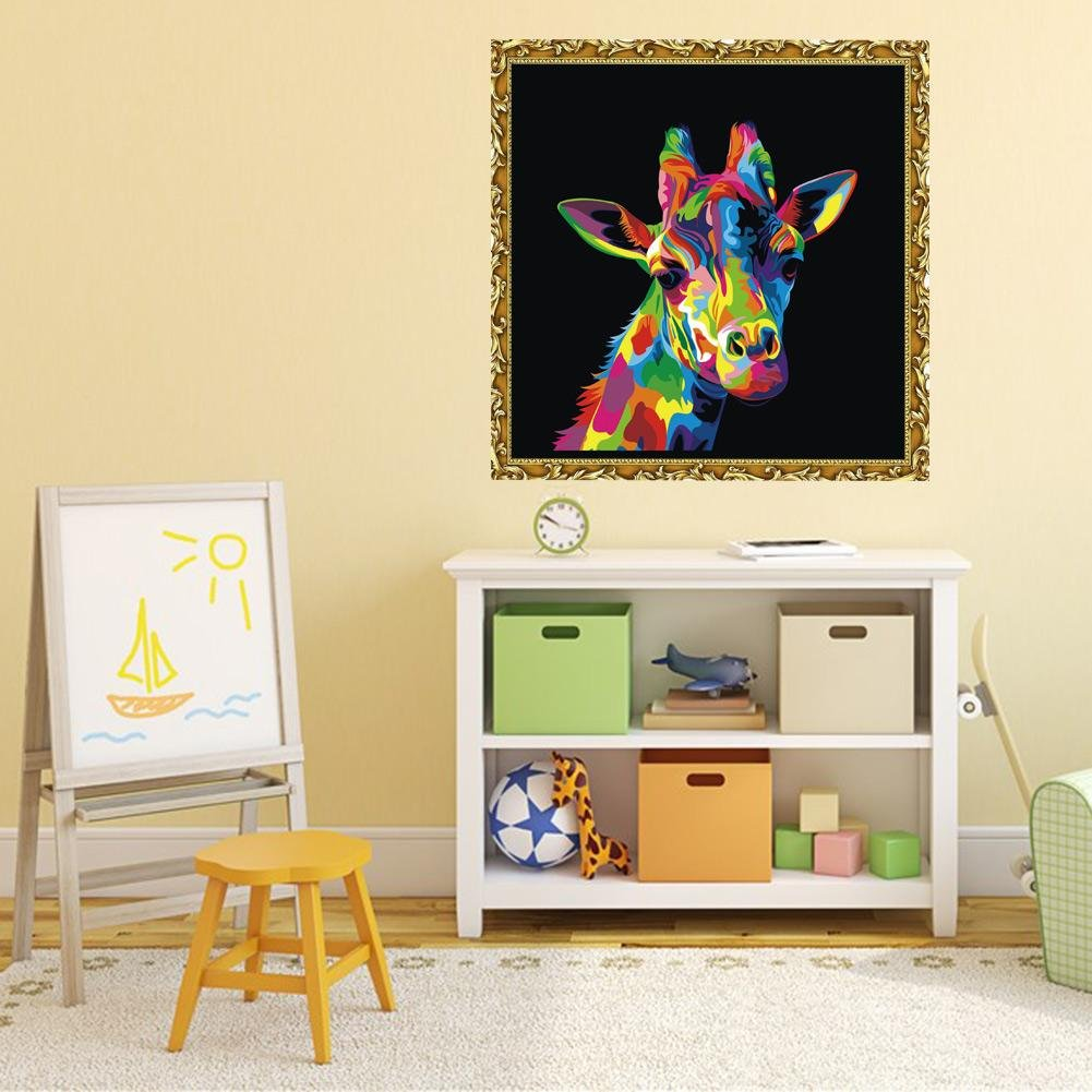 Amazon.com: DIY Painting, amazingdeal 5D Giraffe Diamond Embroidery ...