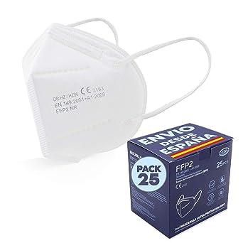25 𝐌𝐚𝐬𝐜𝐚𝐫𝐢𝐥𝐥𝐚𝐬 Protectora blanca, 5 Capas Transpirables, envio desde España: Amazon.es: Industria, empresas y ciencia