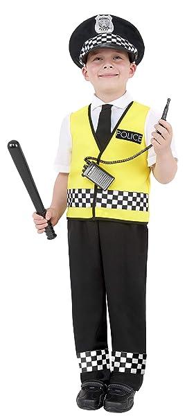 Smiffys Disfraz de chico policía, con top, pantalones, sombrero y ...