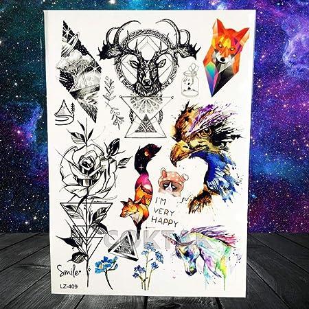 tzxdbh India Mandala Flower Black Custom Lion Tattoo Stickers ...