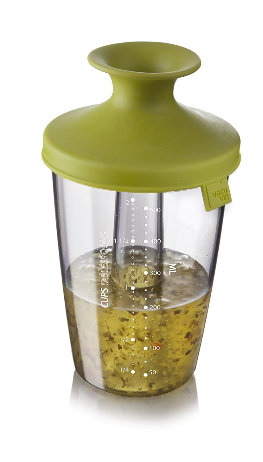 Vacu Vin 2833650 PopSome Flavour Dressing and Marinade Shaker, 21-Ounce, Green Vacu Vin Inc.