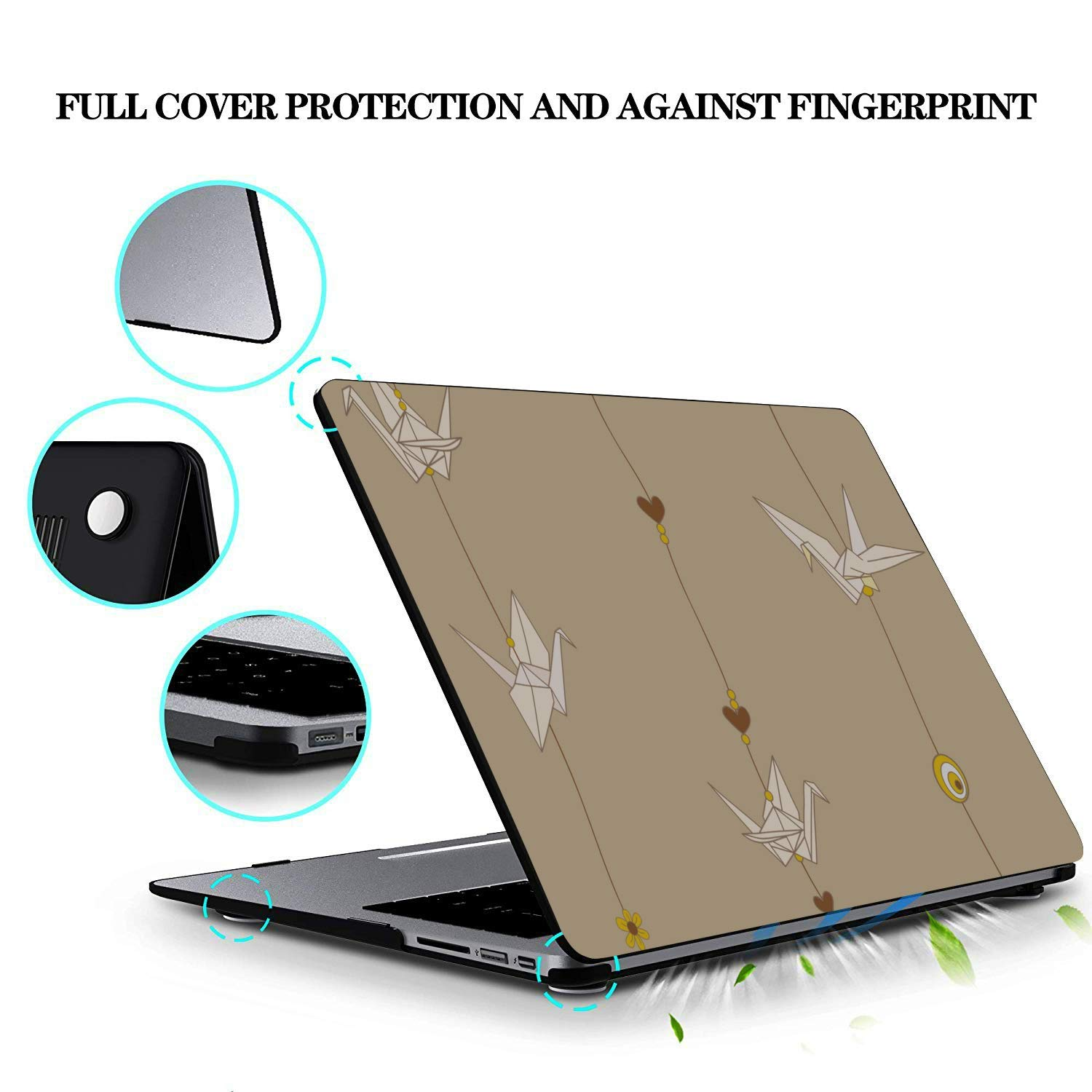MacBook Pro 15 Cover Wish Hand Made Paper Crane Gift Toy Plastic Hard Shell Compatible Mac Air 11 Pro 13 15 MacBook Pro 2016 Case Protection for MacBook 2016-2019 Version