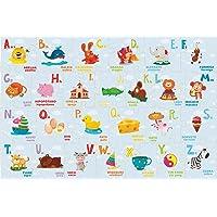 Brinquedo Pedagógico Madeira Montando o Alfabeto 26 Peças Brincadeira de Criança