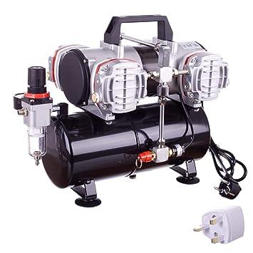 Compresor de aire de pistón de cuatro cilindros de alto rendimiento con tanque y filtro de aire: Amazon.es: Bricolaje y herramientas