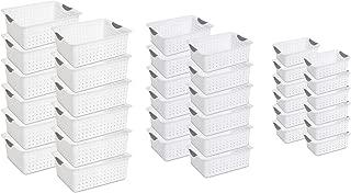 product image for Sterilite Multi-Size Plastic Storage Basket Bin Organizer Bundle Set (36 pieces)