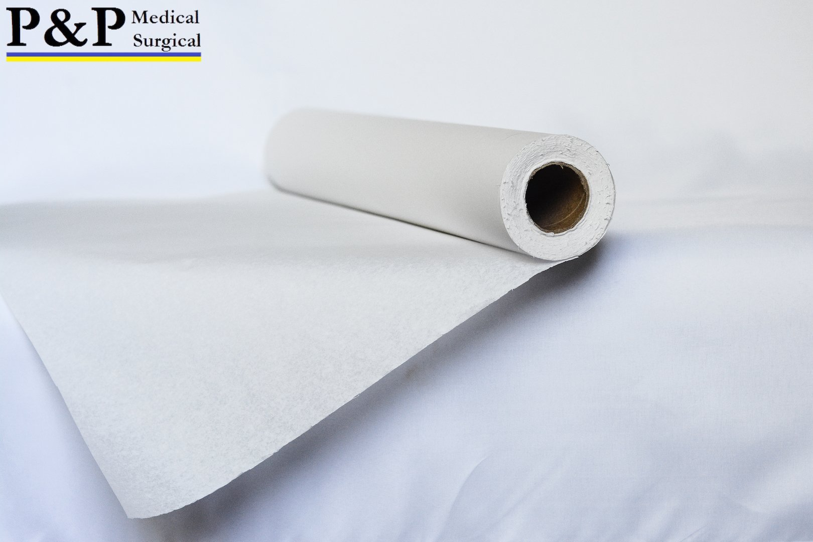 Exam Table Paper with Smooth Finish 21'' x 225 ft (2 Rolls) White, Premium Lightweight and Comfortable