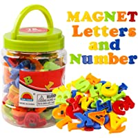 RAEQKS Magnetic Letters Numbers Alphabet ABC Colorful 123 Refrigerator Fridge Magnets for Vocabulary Educational Toy Set…