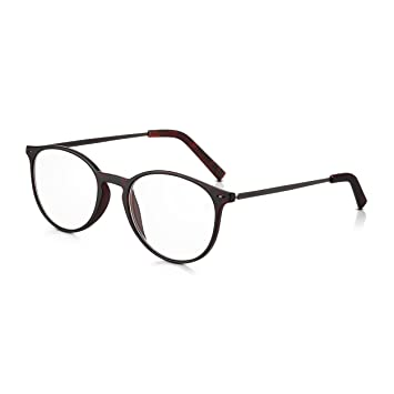 03b40ede2dc Read Optics +2.5 Unisex Vintage Ready Readers  Ultra Lightweight Full Frame  Round Reading Spectacles