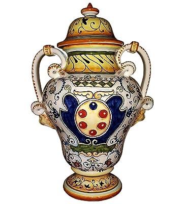 CERAMICHE D'ARTE PARRINI - Italian Ceramic Amphora Vase Jar Art Pottery Hand Painted Made in ITALY Tuscan